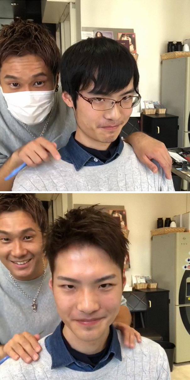 Японский стилист показывает, как сильно стрижка может изменить человека — фото