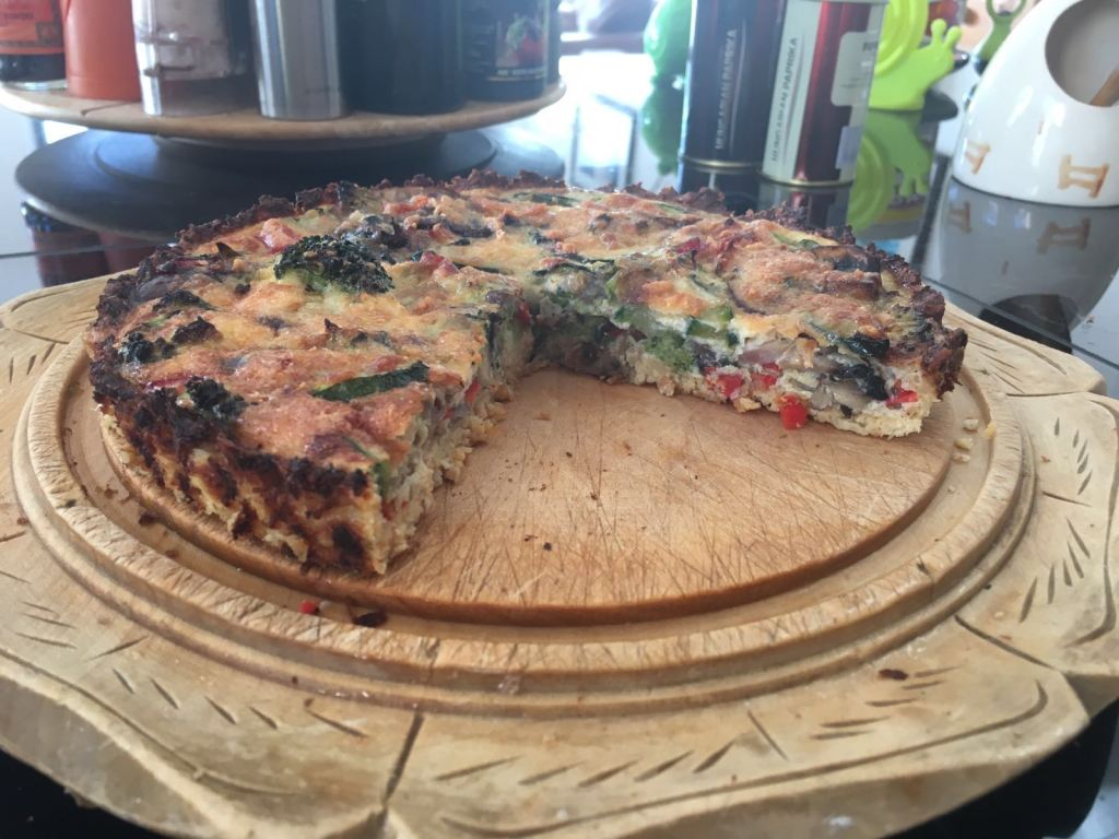 Cauliflower Crust Vegetable Quiche