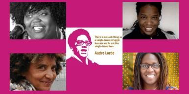 """June 29: Diese Veranstaltung ist eine Einladung zu Inspiration und Empowerment! Die intersektionalen Positionen von unterschiedlichen Frauen*gruppen werden heute in der deutschen Öffentlichkeit stärker wahrgenommen als früher – wenn auch noch nicht stark genug. Dazu gehören auch die Positionen von Schwarzen Frauen* und Schwarzen """"Genderfluid Personen"""" – seien wir Afrikanerinnen* oder Europäerinnen*, Lateinamerikanerinnen* oder Nordamerikanerinnen*. Wir haben nicht nur viele gemeinsame, sondern auch sehr unterschiedliche Erfahrungen und Anliegen: als Migrantinnen oder Geflüchtete, als queer oder ökonomisch Marginalisierte, als Menschen, die in dieser Gesellschaft behindert werden und auch andere Formen von Diskriminierung erfahren. Dass unsere Stimmen heute mehr gehört werden, ist den vielen Aktivistinnen* zu verdanken, die sich selbstbewusst organisieren – einige tun das schon seit Jahrzehnten. Sie erarbeiten ihre eigene Identität und Geschichte, zeigen sie der Welt und tragen ihre Forderungen nach einer Gesellschaft vor, die frei von Gewalt, Rassismus, Homophobie, Sexismus und anderen Diskriminierungen ist. In unser heutiges Podium laden wir Schwarze Aktivistinnen* ein, um Fragen wie diese zu beantworten: Wie positionieren wir uns als Feministinnen* mit sehr spezifischen Lebenskonzepten und """"Afro""""-Identitäten in Deutschland? Welche Erfahrungen bringen wir in die Auseinandersetzung mit Kolonialismus ein? Wie verbinden wir unsere Auseinandersetzungen mit unserem täglichen Leben? Worauf freuen wir uns am meisten? Mit: - Jasmin Eding (Mitbegründerin von ADEFRA e.V., arbeitet in einem Projekt für geflüchtete Menschen) - anouchK ibacka valiente (Gender-Aktivistin, Autorin) - Stefanie-Lahya Aukongo (Autorin, Poetin, Kuratorin, Fotografin, Aktivistin, Workshop-Teamerin und Sängerin) Moderation: Clementine Burnley (Schriftstellerin, Dichterin, Aktivistin und Mutter) Anschließend Spoken Word von Stefanie Lahya Aukongo! Eine Veranstaltung der Reihe """"Salon Intersektionalität –"""