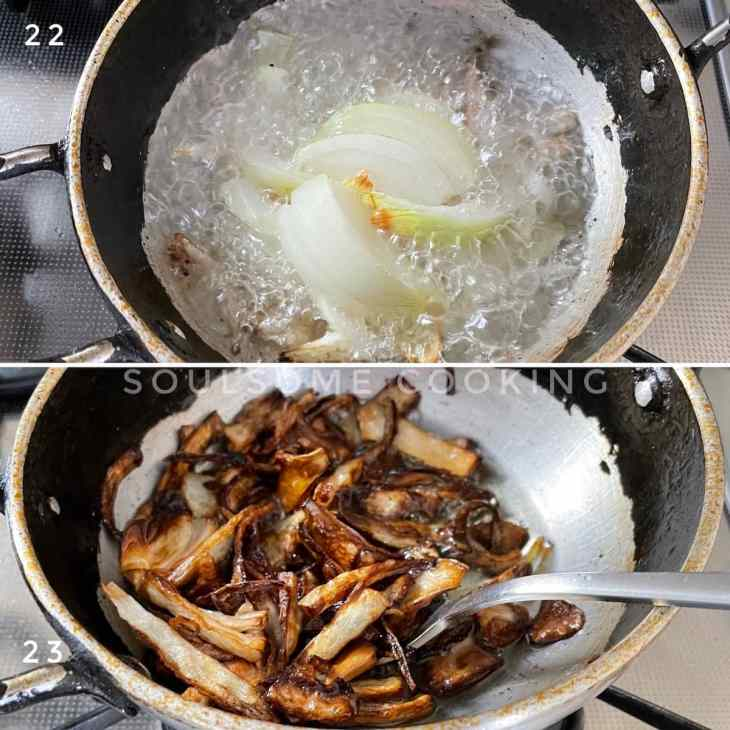 Fried onion recipe for biriyani