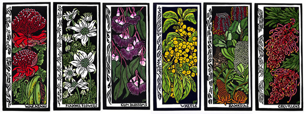 Australian Wildflowers Card Set of 6