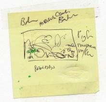 Initial ideas for the Seaside Wildflowers linocut