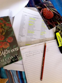 Researching plant species for Seaside Wildflowers