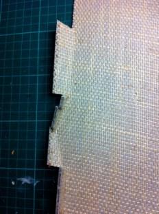Cutting back edges of linoblock 5