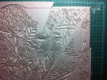 Cleaning back edges of linoblock 5