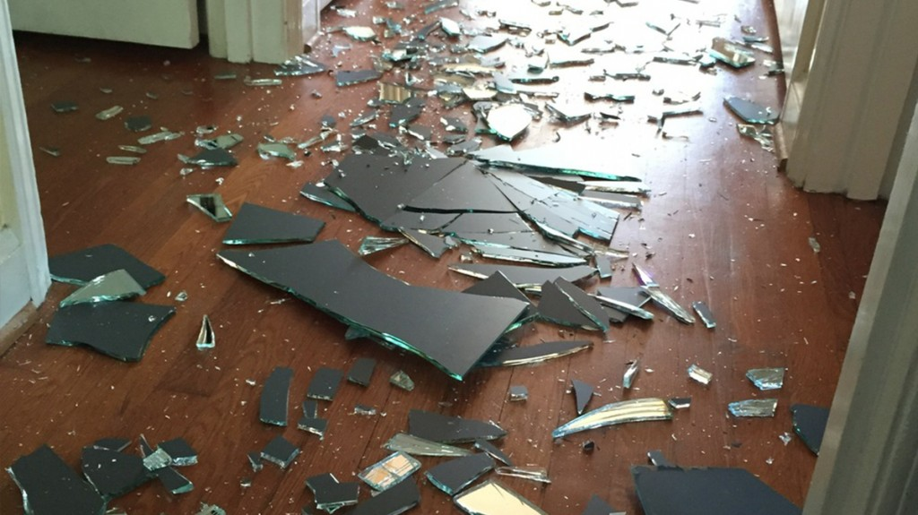 Her Young Son Breaks Bathroom Mirror In Fit Of Rage. Mom's