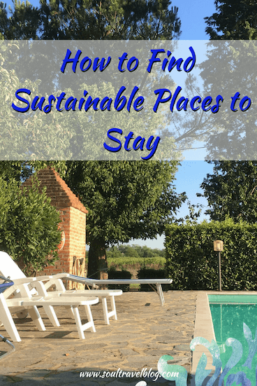 Finding sustainable hotels