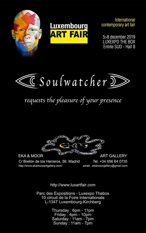 Luxembourg art fair Soulwatcher december 2019