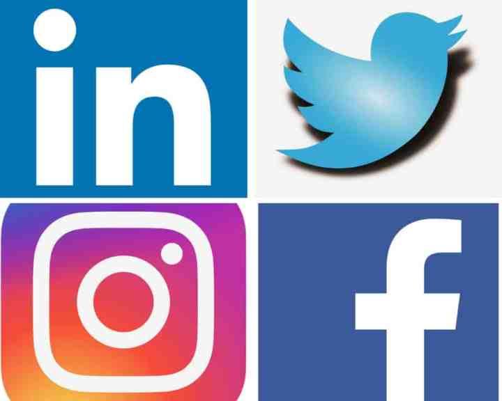 SMM, facebook, instagram, linkedin, twitter, logos