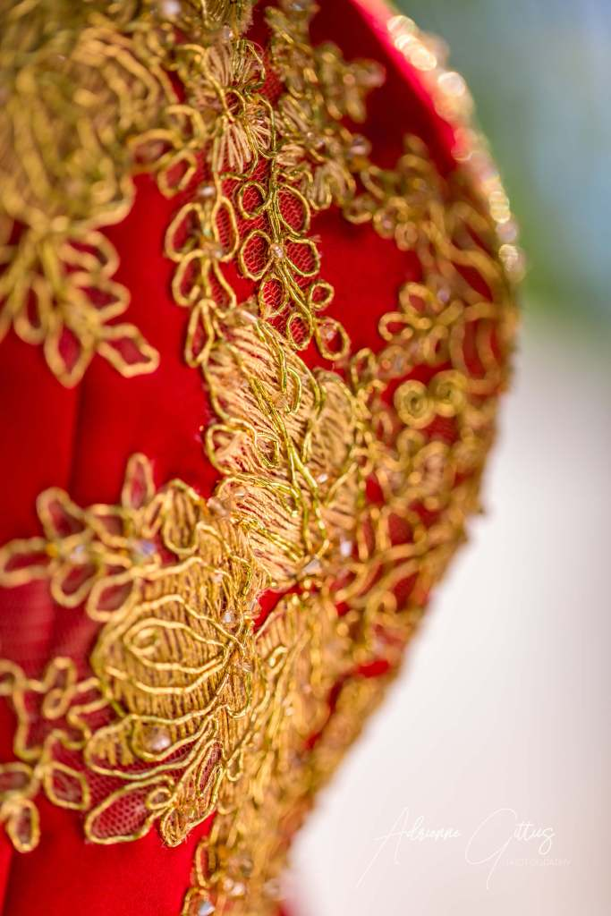 chinese dress detail gold embroidery on red dress