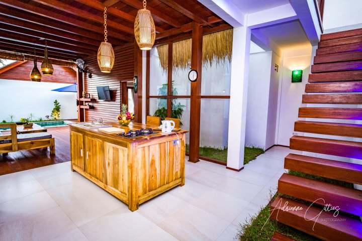 Gili Air Sanctuary, open plan kitchen, Indonesia