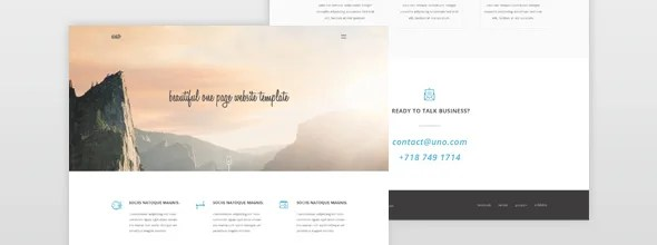 resiponsive template uno-one-pages