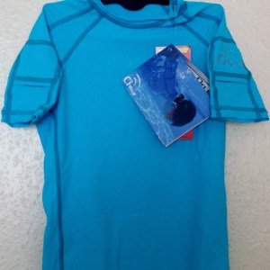 Quality activewear Tshirt with sleeve pockets for children with cochlear implants or other devices to play active sports or enjoy physical activity.