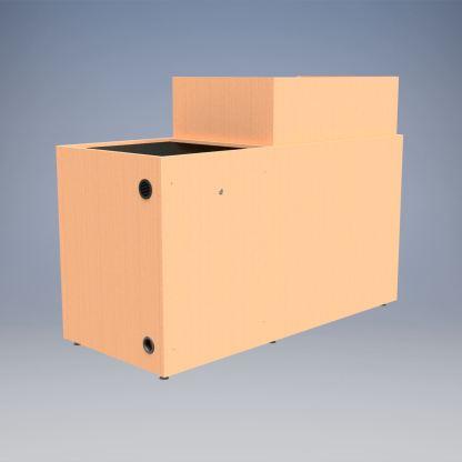 Standing desk wood veneer