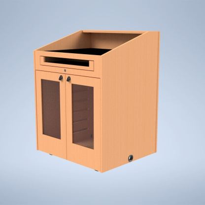 The Presenter with Acrylic Insert Doors purchase a podium online