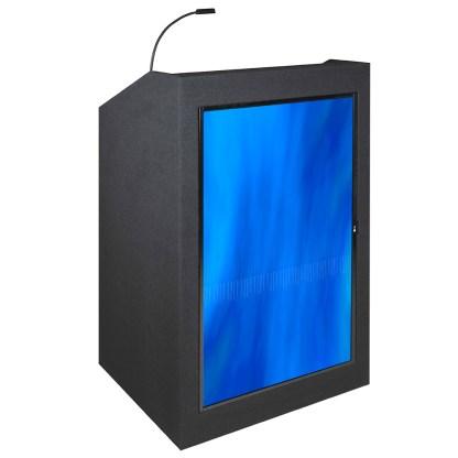 podium with screen