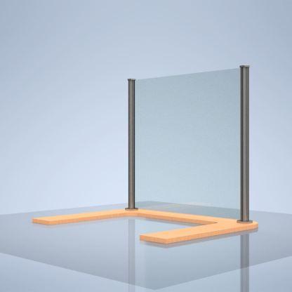 """Plexiglass desk shield """"I"""""""