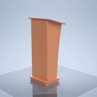 solid wood podium