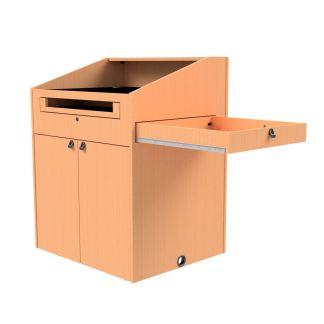 pullout storage drawer on podium