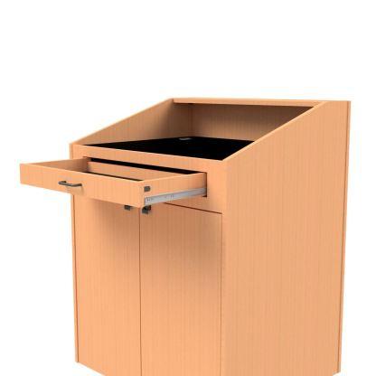multimedia storage drawer