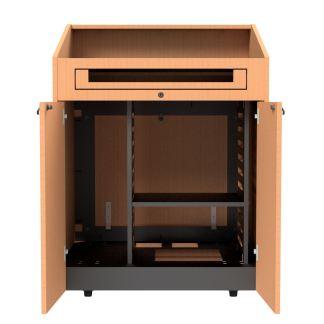 adjustable shelf in podium