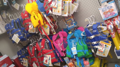 Life jackets (PFDs) and goggles