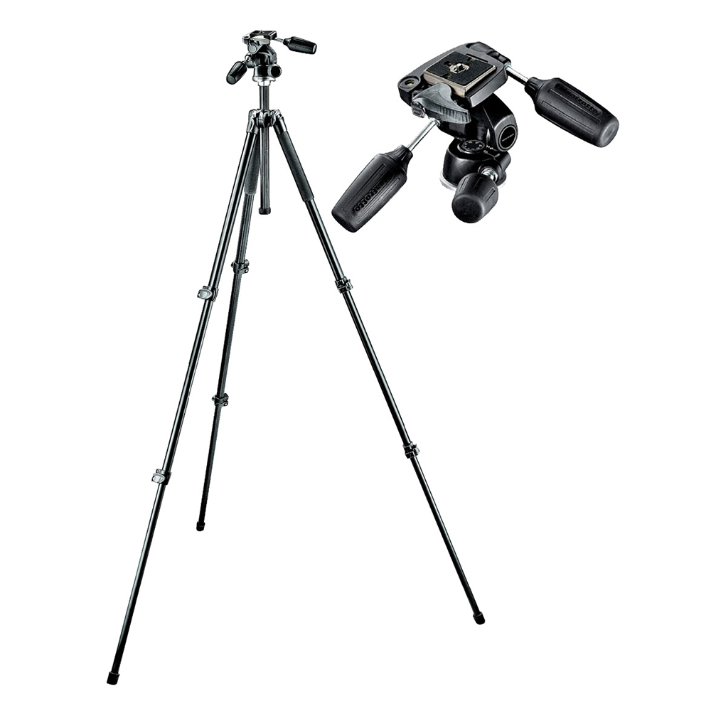Manfrotto MK294A3 3 Section Tripod w/ 3 Way Head