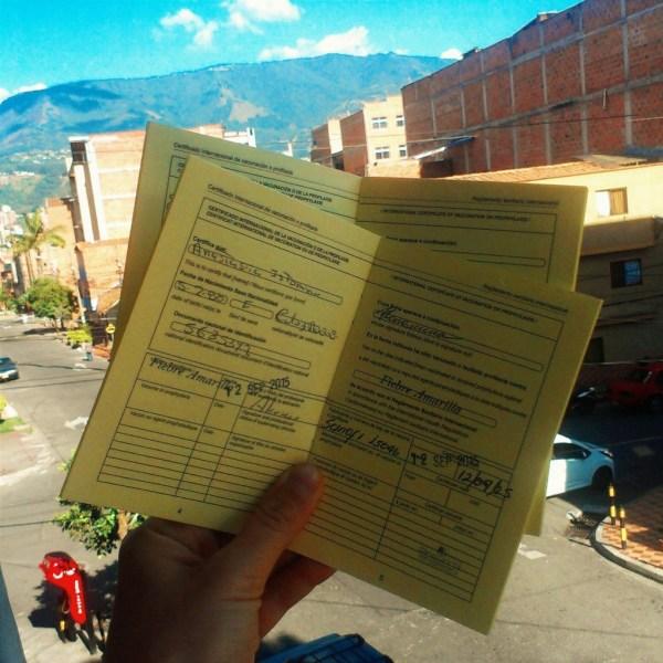 бесплатная прививка от желтой лихорадки в Колумбии, Медельин