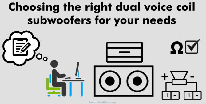 how to wire a dual voice coil speaker  subwoofer wiring