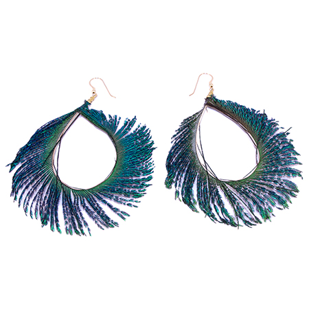 bad back chairs for home rocking chair pads walmart peacock feather hoop earrings | soundchick accessories