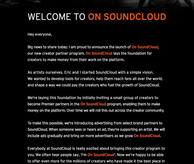 Heres Some More Detail About On Soundcloud Our New Creator Partner Program Heres The Full Breakdown