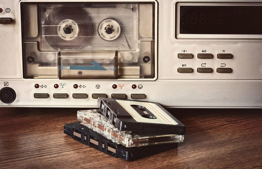 cassette desk, cassette player