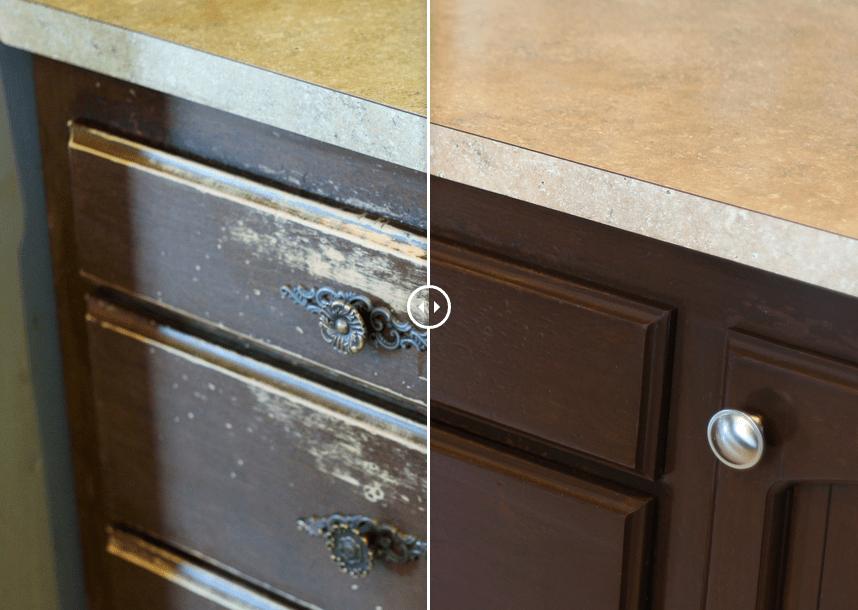 kitchen cabinet resurfacing lowes black sink sound finish | painting & refinishing seattle the ...