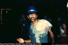 Sound Forest deejaying dark and full on psytrance at Pacha, Arambol, Goa at the New Years Party 2010-2011
