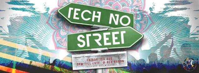 Sound Forest techno at techno street party, Red Baron, Singapore, 7 august, 2015, 2 pm to 5 pm
