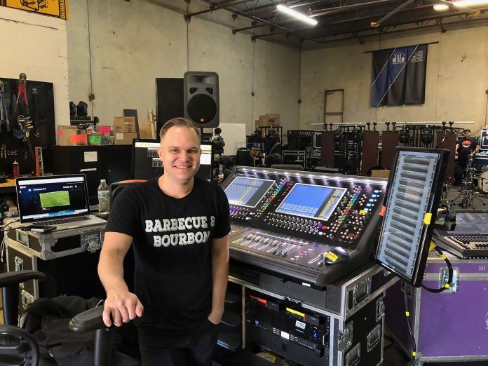 FOH/PM/TM Jordan Bledsoe in rehearsals with the DiGiCo SD12