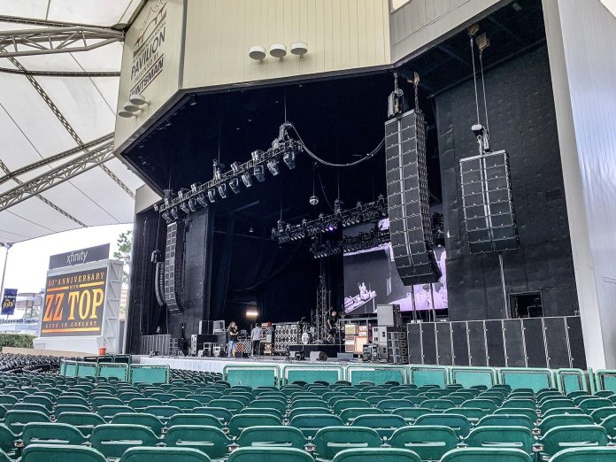 Houston's Cynthia Woods Mitchell Pavilion show featured a slightly smaller K1 system design to best suit the venue's layout