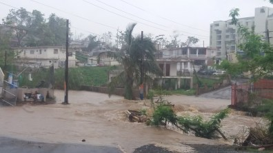 Flooding post María. That is an intersection on a major highway, not a river.