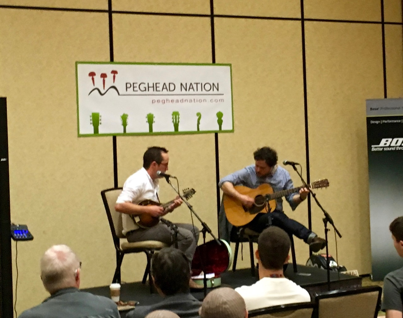 Joe K. Walsh and Grant Gordy demonstrating duets