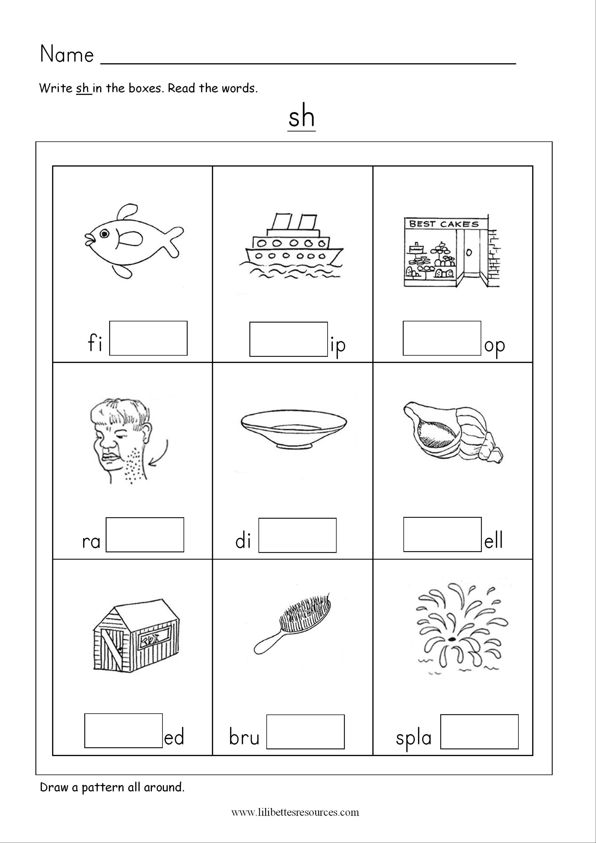 Ch Phonics Worksheets