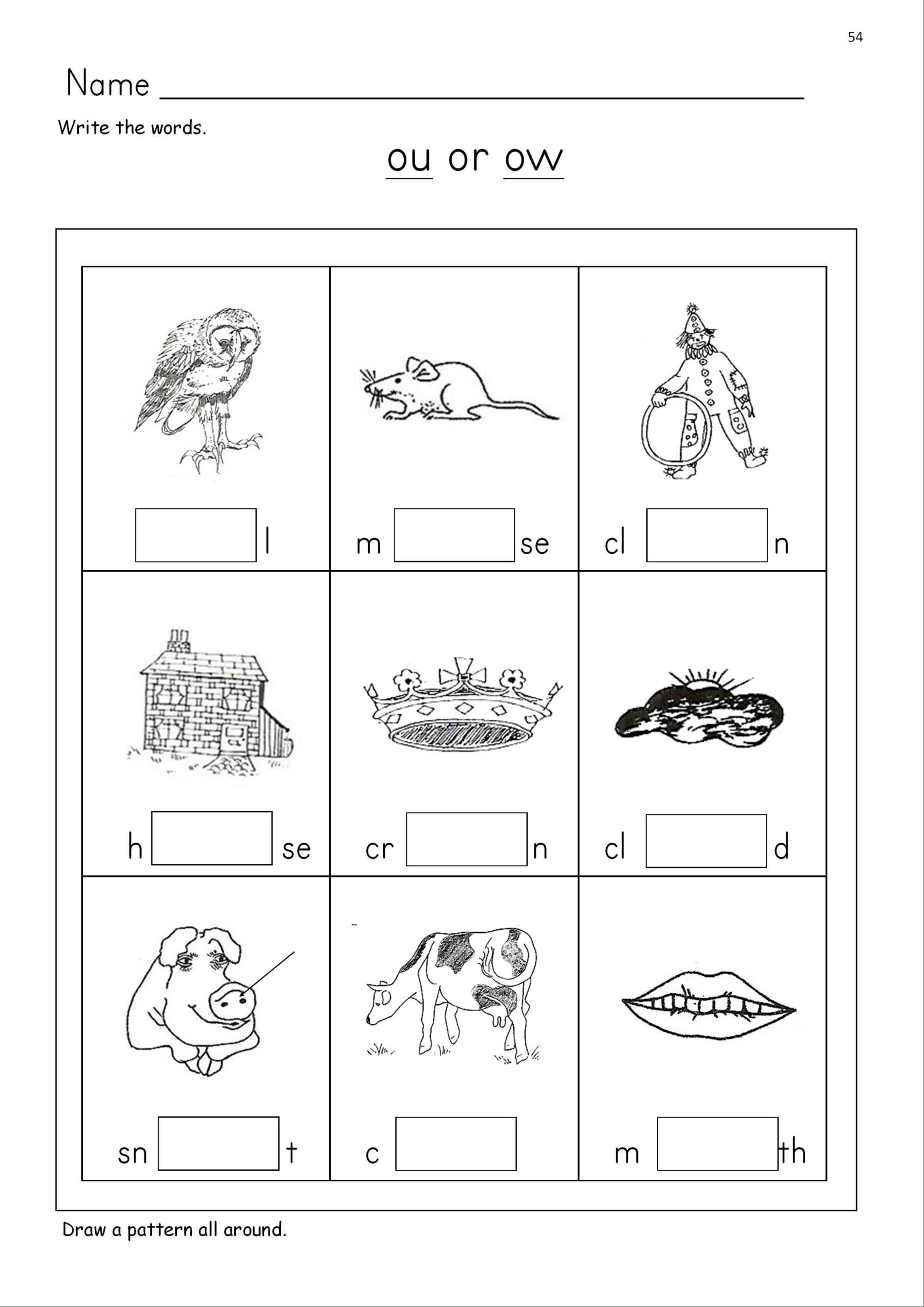 hight resolution of Ou Or Ow Worksheet   Printable Worksheets and Activities for Teachers
