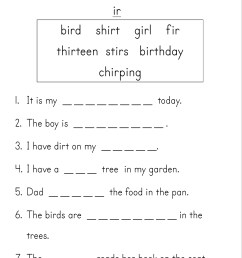 Er Ir Ur Phonics Worksheets   Printable Worksheets and Activities for  Teachers [ 3508 x 2480 Pixel ]