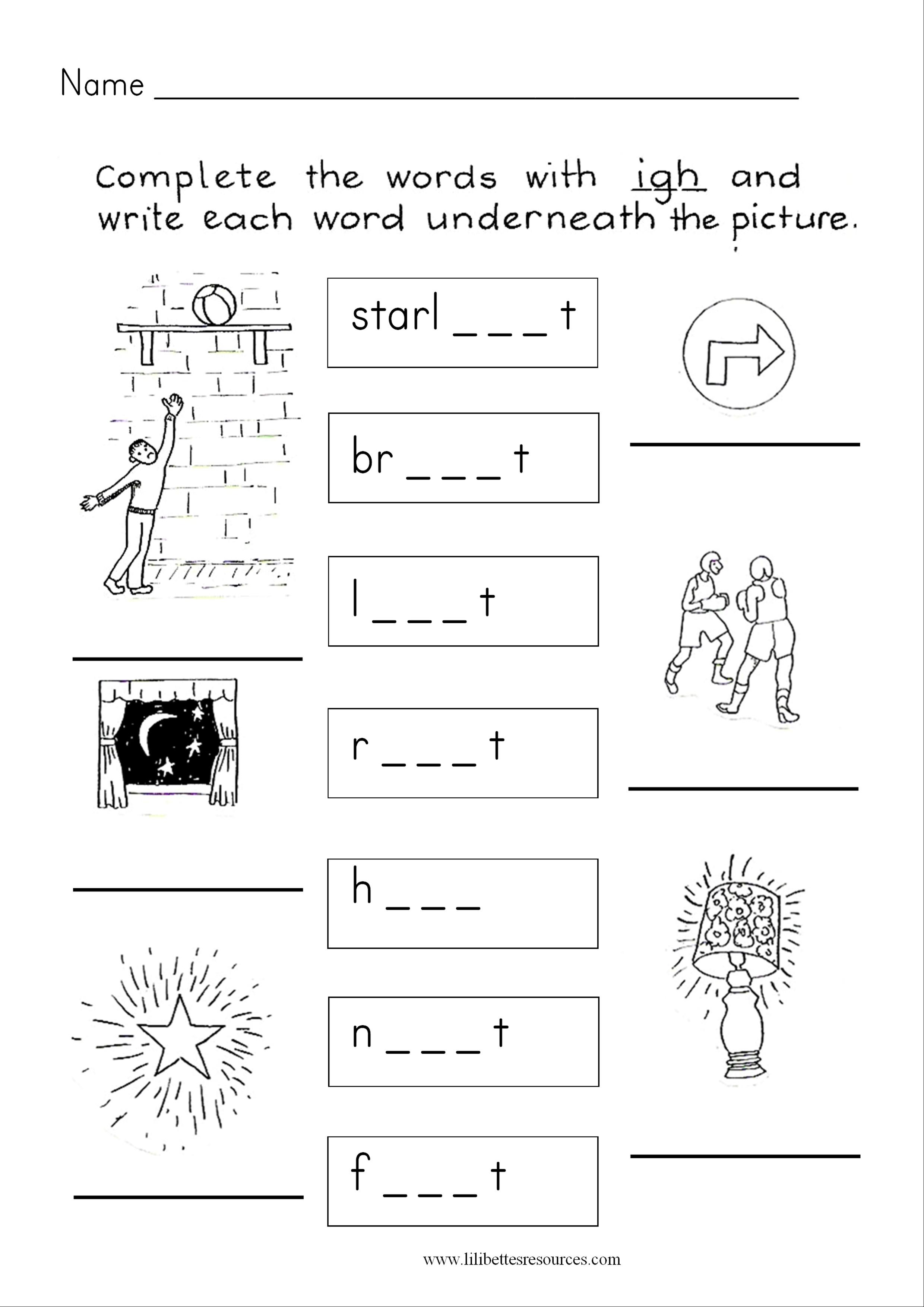 Igh Phonics Worksheets