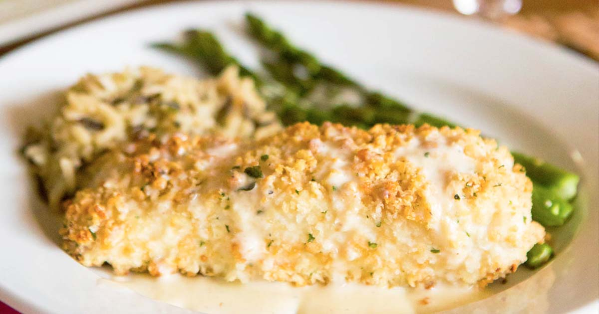 Macadamia Nut-Crusted Halibut