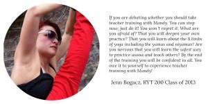Jenn Bogacz RYT 200 Class of 2013