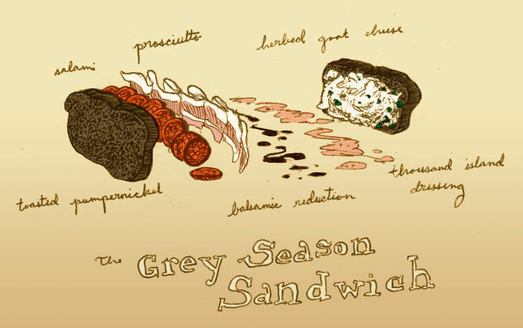 Grey Season Sandwich art by Louis Roe