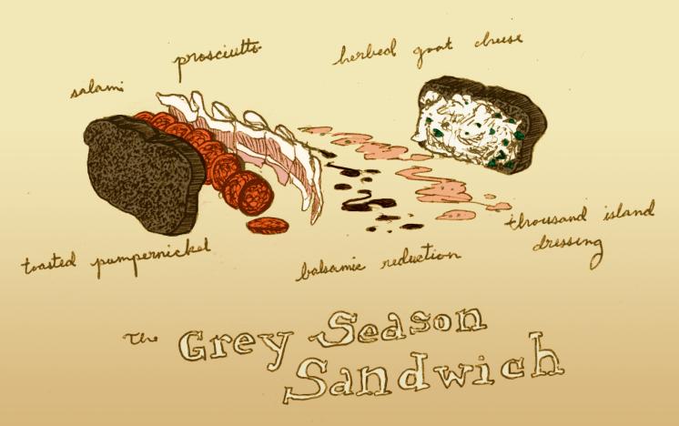 Grey Season Sandwich art by Louis Roe