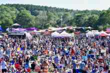 A wide variety of local vendors were on display at the festival.
