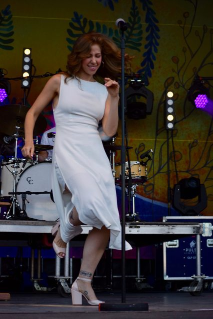 Rachel Price, of Lake Street Dive, breaks out some dance moves.