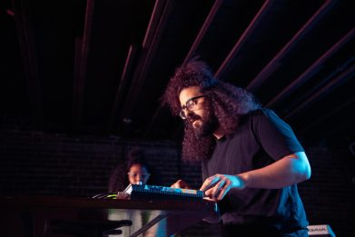 Optic Bloom's first gig at Thunder Road by Knar Bedian